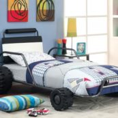 Turbo Racer Twin Size Bed in Gun Metal
