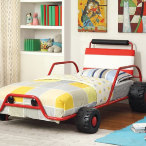 Turbo Racer Twin Size Bed in Red