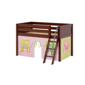 Easyrider 25 Panel Low Loft Bed in Chestnut