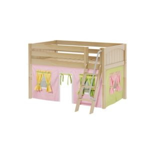 Easyrider 25 Panel Low Loft Bed in Natural