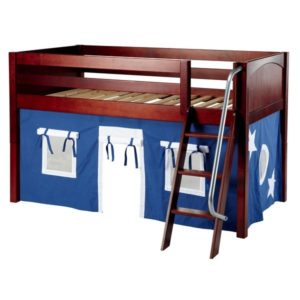 Maxtrix EASYRIDER22 Panel Low Loft Bed in Chestnut 1