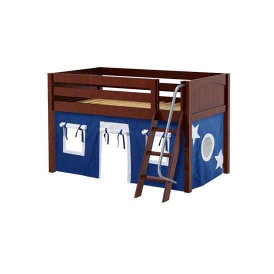 Maxtrix EASYRIDER22 Panel Low Loft Bed in Chestnut