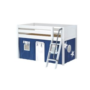 Maxtrix EASYRIDER22 Panel Low Loft Bed in White