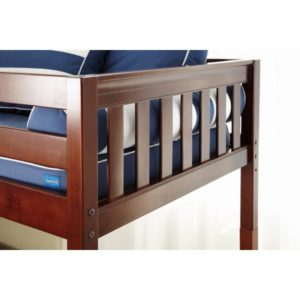 Maxtrix EASYRIDER29 Slat Low Loft Bed in Chestnut