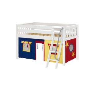 Maxtrix EASYRIDER29 Slat Low Loft Bed in White