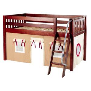 Maxtrix EASYRIDER30 Slat Low Loft Bed in Chestnut