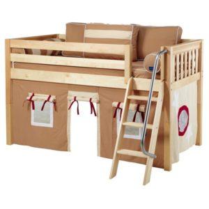 Maxtrix EASYRIDER30 Slat Low Loft Bed in Natural 1