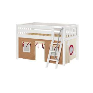 Maxtrix EASYRIDER30 Slat Low Loft Bed in White