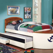 boat bed with trundle and drawers