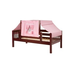 YO23 Slat Daybed with Top Tent in Chestnut