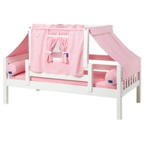 YO23 Slat Daybed with Top Tent in White