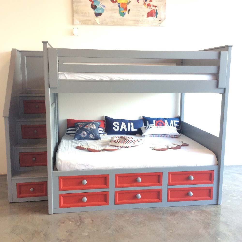 Beau Winchester Full Over Full Stair Bunk Bed With Captain Drawers