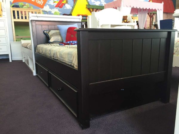 Campground Collection Panel Bed in Espresso