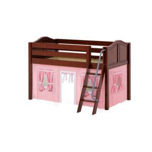 Maxtrix EASYRIDER23 Curve Low Loft Bed in Chestnut
