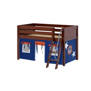 Maxtrix EASYRIDER42 Panel Low Loft Bed in Chestnut