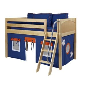 Maxtrix EASYRIDER42 Panel Low Loft Bed in Natural