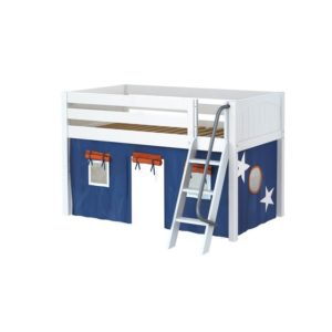 Maxtrix EASYRIDER42 Panel Low Loft Bed in White
