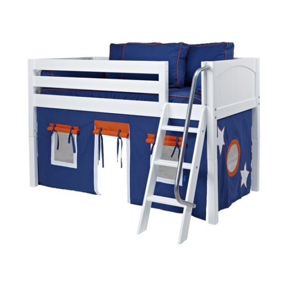 Maxtrix EASYRIDER42 Panel Low Loft Bed in White A