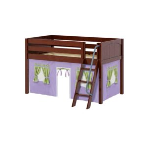 Maxtrix EASYRIDER75 Panel Low Loft Bed in Chestnut