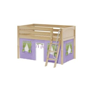 Maxtrix EASYRIDER75 Panel Low Loft Bed in Natural