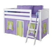 Maxtrix EASYRIDER75 Panel Low Loft Bed in White