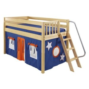 Maxtrix RIGHT42 Slat Low Loft Bed in Natural