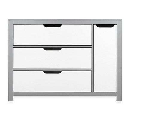 oslo chifforobe in grey and white