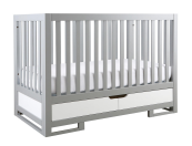 karla dubois oslo two tone crib in grey and white