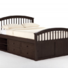 Highland Collection Captains Bed (Available in White, Espresso, Pecan)
