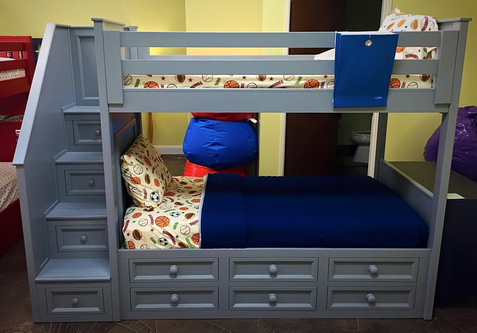 Winchester Twin Over Twin Stair Bunk W Captain Drawers