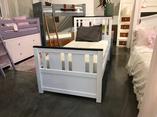 milano twin bed in white