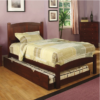 Caramo Twin Size Bed in Cherry
