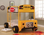 Cathie Twin over Twin Bunk Bed in Yellow and Black