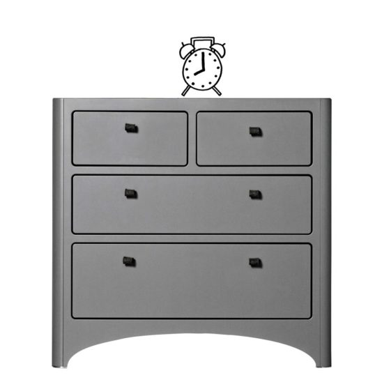 Leander 4 Drawer Dresser in Grey