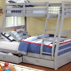 Moonlight Twin over Full Bunk Bed in Gray