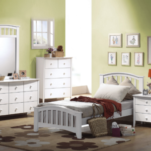twin toddler bed in white finish