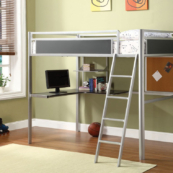 CM-BK1135 loft bed with workstation