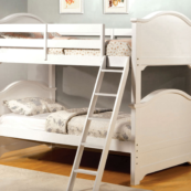BK616W twin over twin white bunk bed