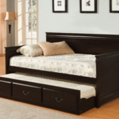 CM1636 trundle daybed in espresso