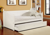 CM1929 daybed with trundle in white
