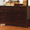 CM7905D double dresser in dark walnut