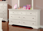CM7943WH-D 7 drawer dresser in white