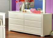 CM7035W-D double dresser in white