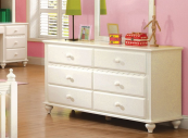 CM7617D double dresser in white