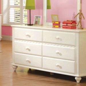 CM7617D double dresser in white