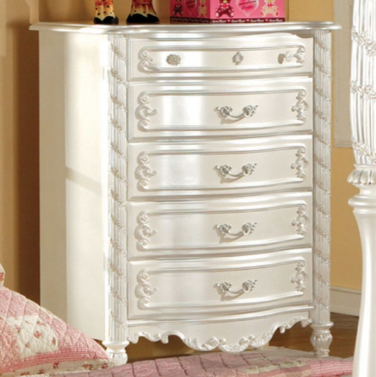 CM7226C chest of drawers in pearl white