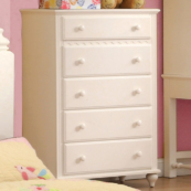 CN7617C 5 drawer chest in white