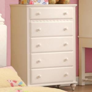 CN7617C 5 drawer chest in white