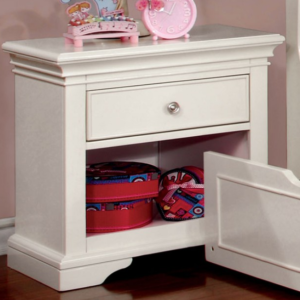 CM7943WH-N 1 drawer nightstand
