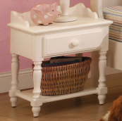CM7617N nightstand in white